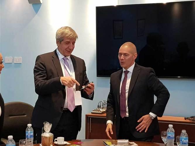 Piris con embajadores de Italia, Eslovenia y Belarus