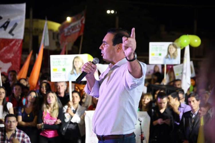 Encuentro por Corrientes (ECO) realizó un acto este lunes en el club Lipton