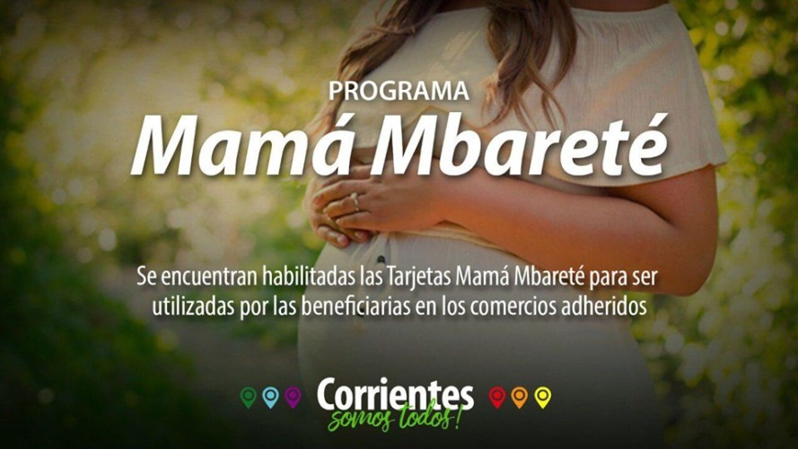 Están habilitadas las tarjetas Mbareté y Mamá Mbareté