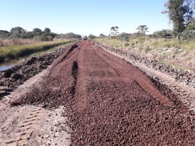 Obras de enripiado en la provincia de Corrientes