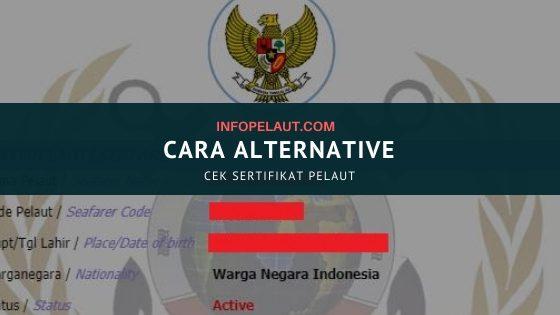 Cara Alternativ mengecek sertifikat pelaut