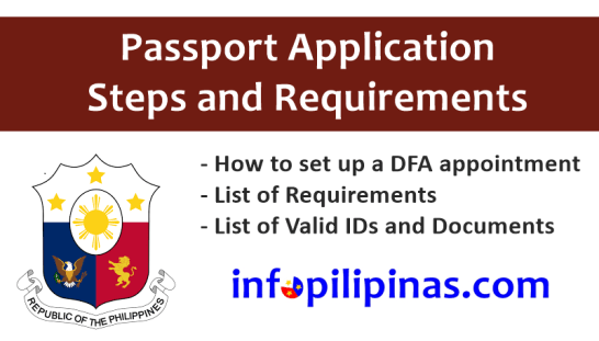 Online Dfa Philippine Passport Application And Requirements Info