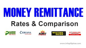 philippine money remittance rates and comparison