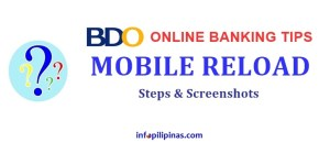 bdo online banking prepaid load globe smart