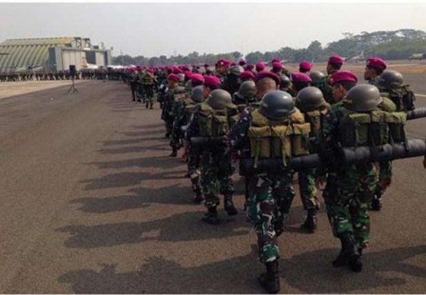 Pasukan TNI Pekanbaru