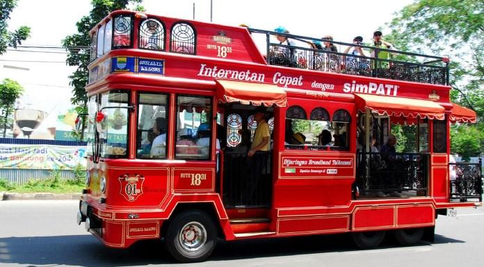 foto:BD-ANTARA - Bus wisata Bandros Bandung