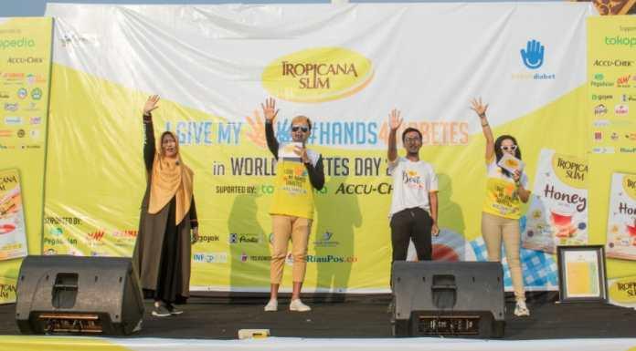 Senam Sehat #Hands4Diabetes di Pekanbaru