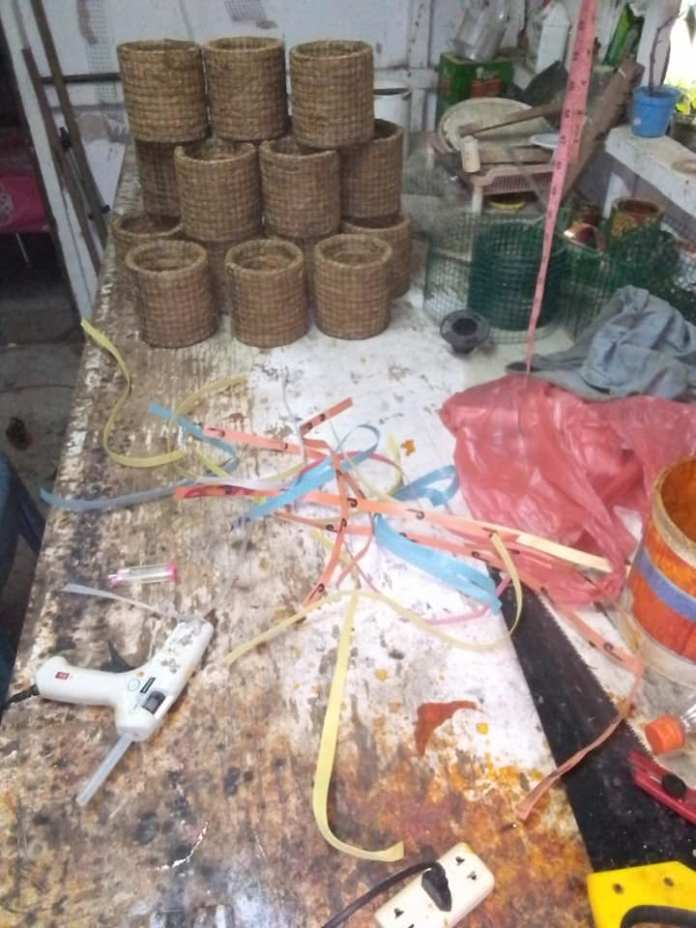 workshop pot bunga serabut kelapa