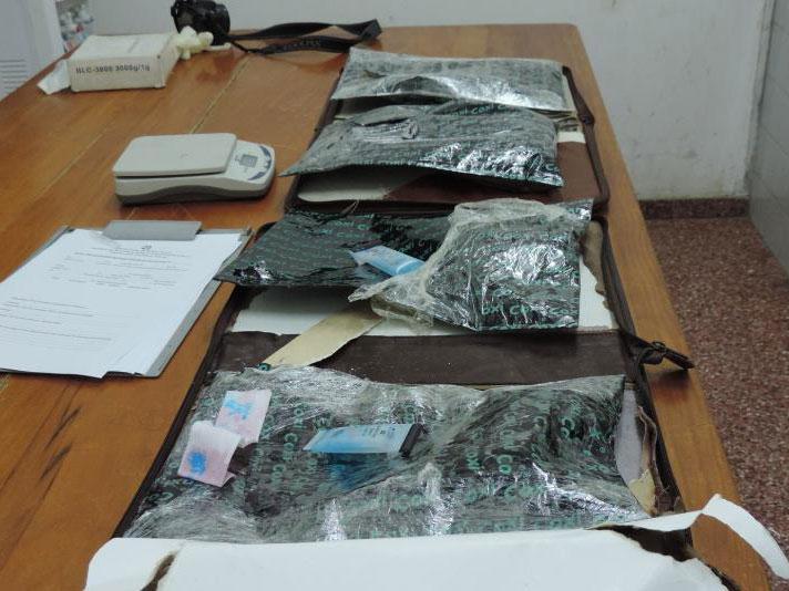 Foto 2 En total son más de 2 kilogramos de cocaína
