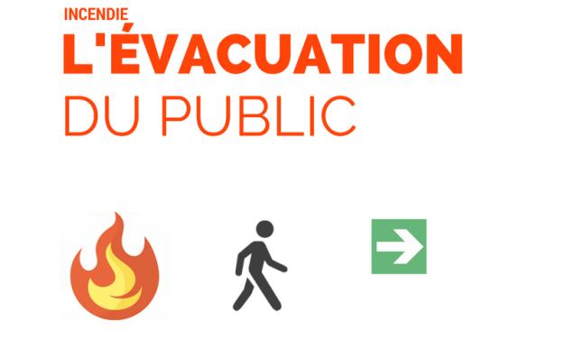 Incendie : l'évacuation du public
