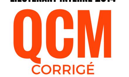 QCM corrigé concours interne de lieutenant de 1ère classe de SPP 2014