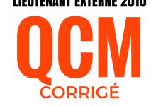 Concours externe de lieutenant de sapeurs-pompiers professionnels. QCM 2010