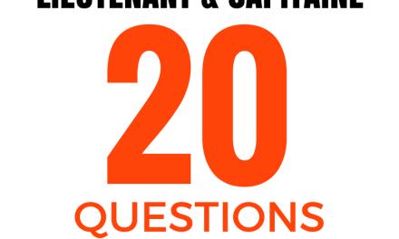 20 questions – Oral concours lieutenant & capitaine SPP #1