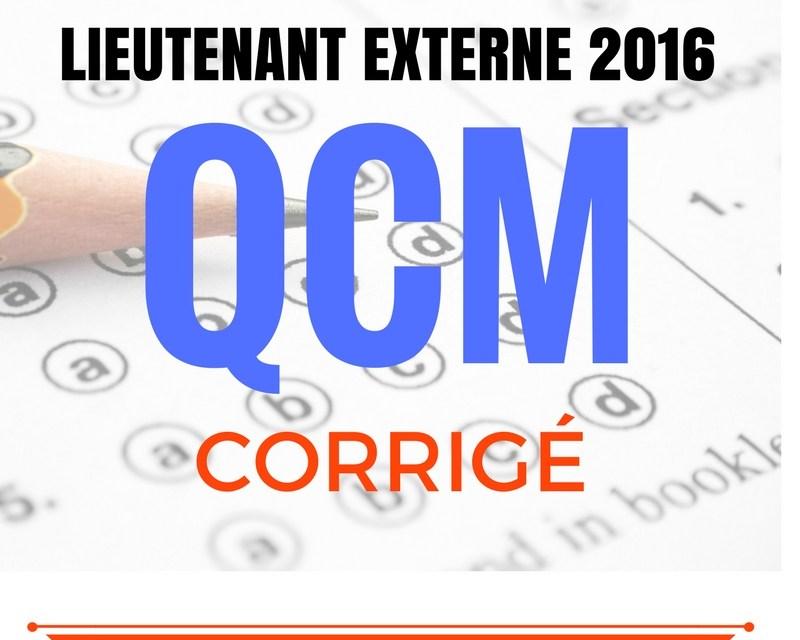 QCM Corrigé – Concours externe Lieutenant SPP 2016 – 80 questions