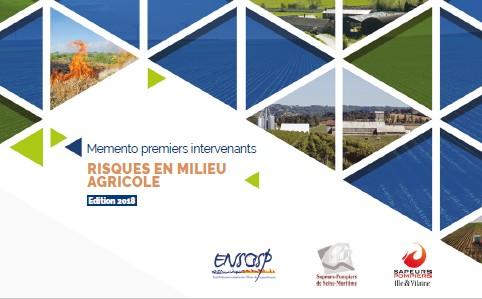 Memento premiers intervenants RISQUES EN MILIEU AGRICOLE - ENSOSP