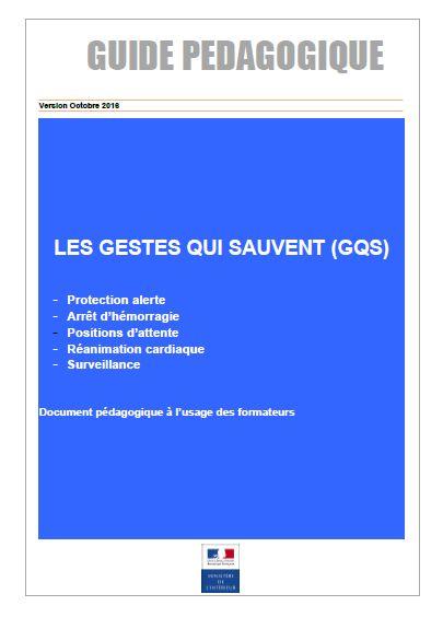 Gestes qui sauvent - GQS - Guide pédagogique - Document Formateur