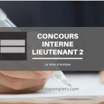 Concours interne lieutenant 2ème classe : la note d'analyse
