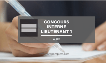 Concours interne lieutenant 1ère classe : le programme du QCM