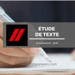 Étude de texte – Entraînement #1