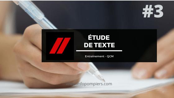 Étude de texte – Entraînement #3