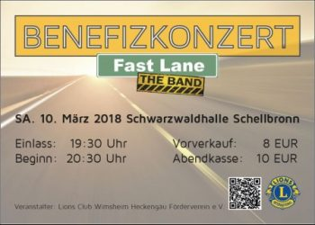 FAST LANE – The Band  Benefizkonzert – Fotogalerie