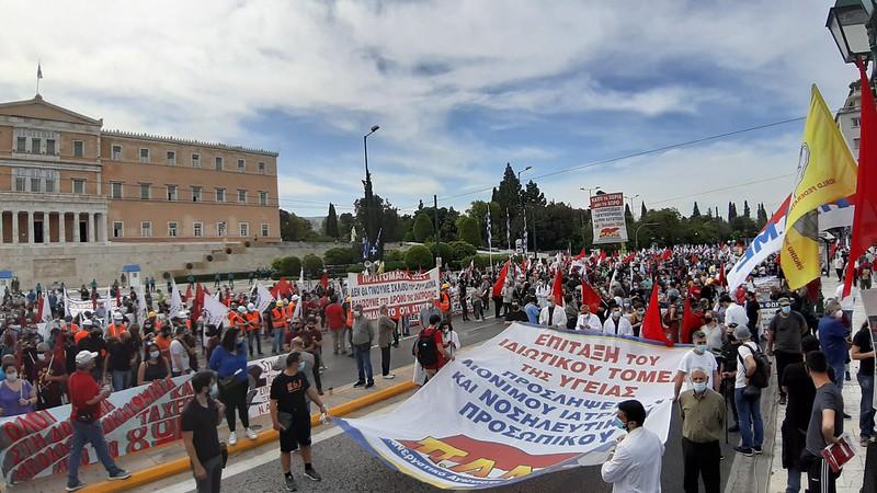 Большой Первомайский забастовочный митинг ПАМЕ в Афинах