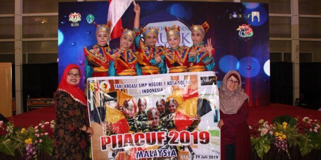 Festival Budaya PIIACUF,  SMPN 1 Solok Tampilkan Kesenian Minang