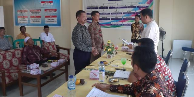 Ketua LPMK dan Ketua Pemuda Kelurahan Simpang Rumbio Dikukuhkan