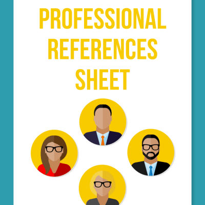 professional references sheet