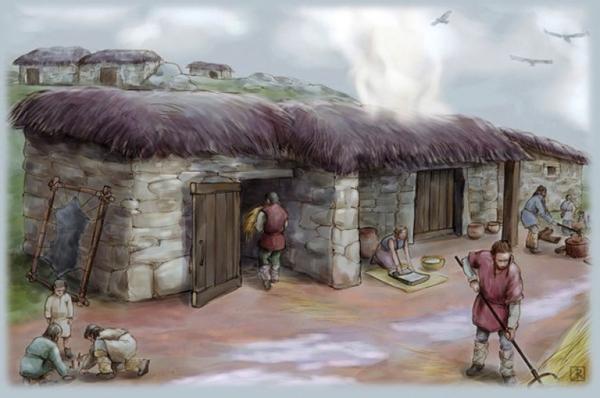 Recreación de viviendas de la Edad del Bronce. Foto: IdeariumRecreación.