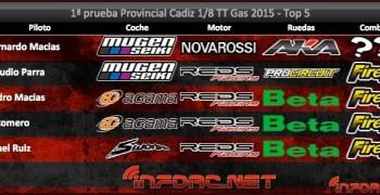 Crónica: Primera prueba del Cto de Cádiz 1/8 TT Gas 2015. Por Hobbymacías