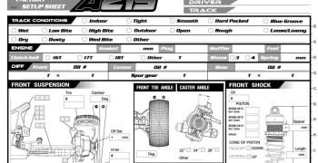 Agama A215 - Hoja de reglajes en PDF editable