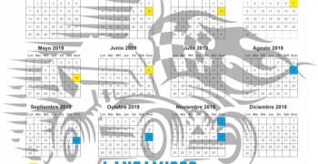 Calendario 2019 Club Lanzamigos