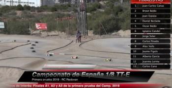 Video - Finales A comentadas del Nacional 1/8 TT-E en Redovan ¡Con infiltrado sorpresa!