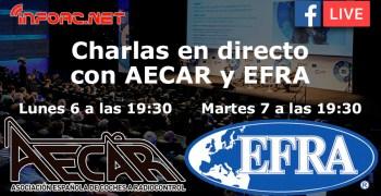 Charlas en directo con AECAR y EFRA, preguntas y respuestas en directo.