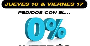 Promoción 0% de interés en Modelspain ¡Solo hoy y mañana!