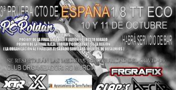 10 y 11 de Octubre - Tercera prueba del Campeonato de España 1/8 TT-E en Roldan
