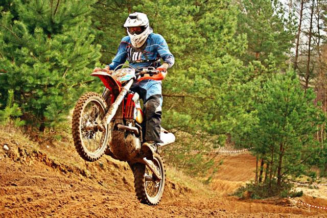 moto cross en action