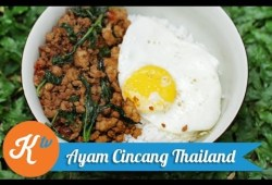 Cara Memasak Resep Ayam Cincang Thailand (Thai Minced Chicken/Pad Krapow Recipe Video) | STANLEY MARCELLIUS
