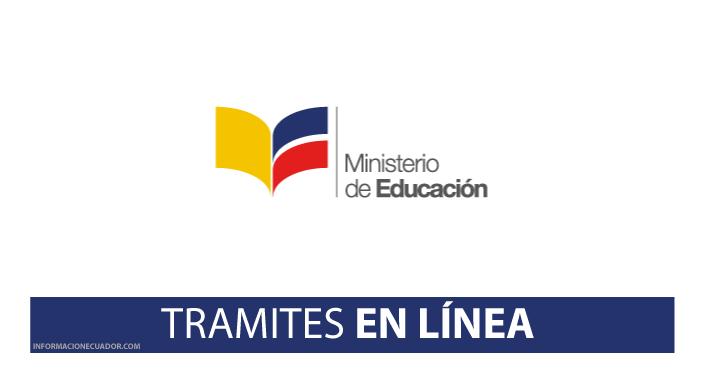 Trámites En Línea Ministerio De Educación
