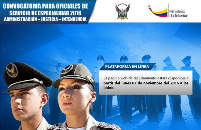 reclutamiento en linea policia ecuador 2016 2017 informacionecuador-com