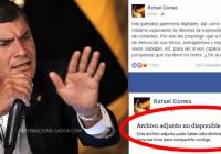 Facebook-borra-publicación-de-al-expresidente-Rafael-Correainformacionecuador.com-