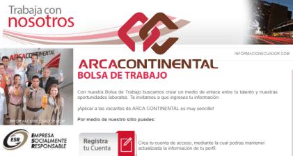 De Bolsa Continental Trabajo 2019vacantes Arca MpVqzSU