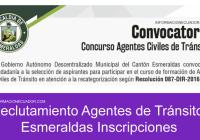 reclutamiento agentes de transito