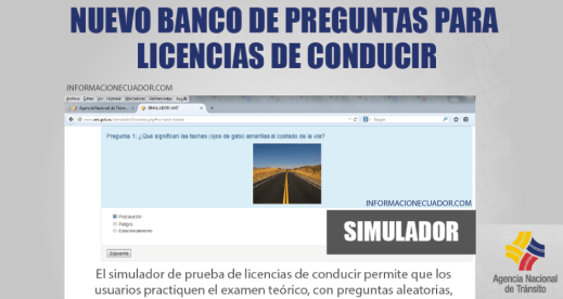 Simulador De Preguntas Ant Licencia De Conducir 2021 Banco De Preguntas