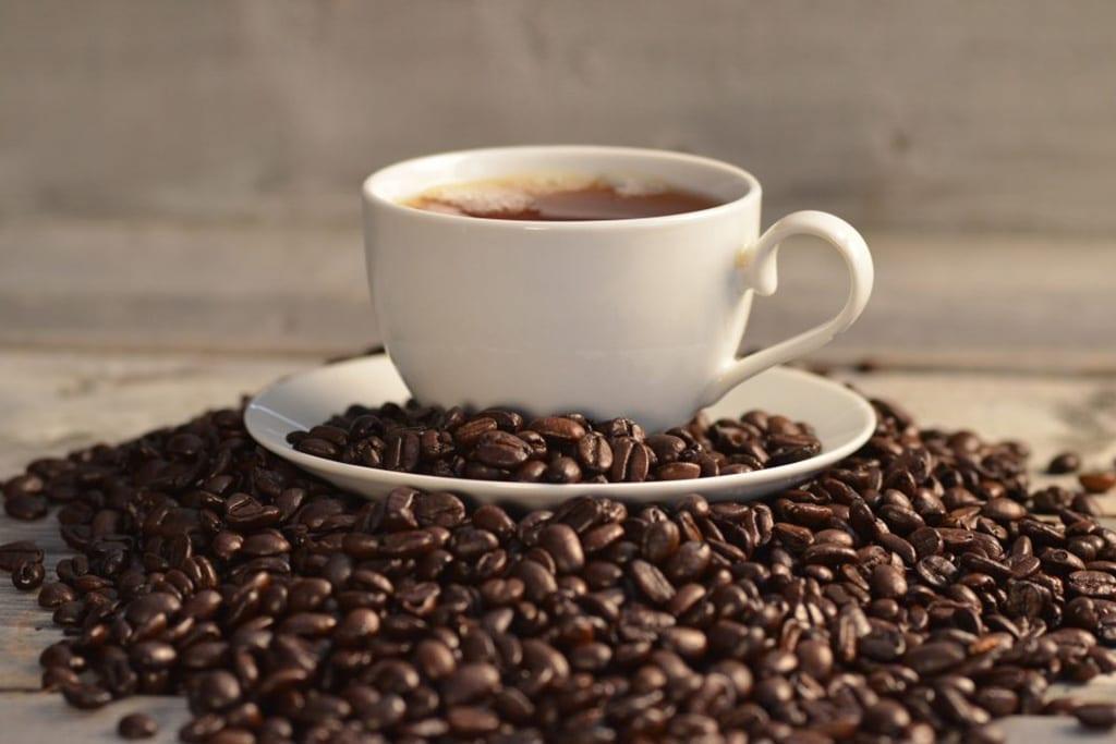 café granos café taza