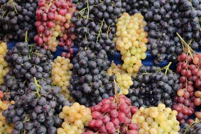 nuevo envasado para el vino uva racimos