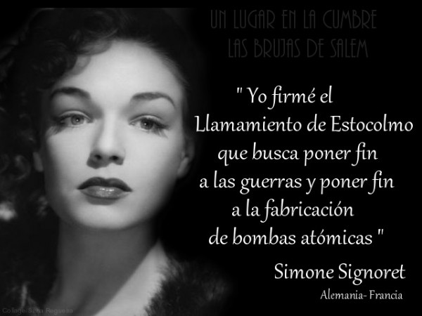 Simone Signoret - Llamamiento de Estocolmo