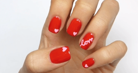 Decoraci_n de u_as Love para San Valent_n_1