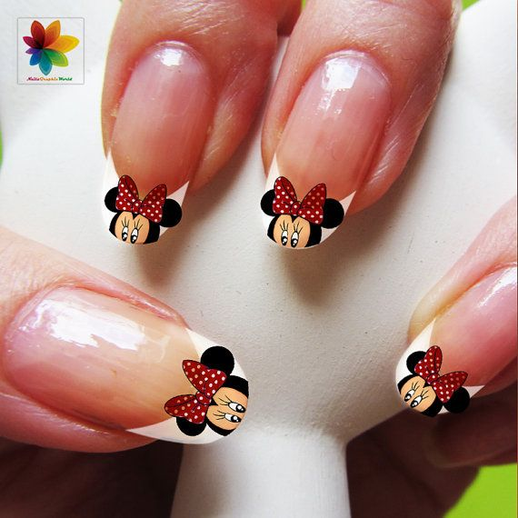 valentine-day-disney-nail-art-cartoon-mickey-mouse-100-waterslide-stickers-decal-nail-nails-crystal-clear-background